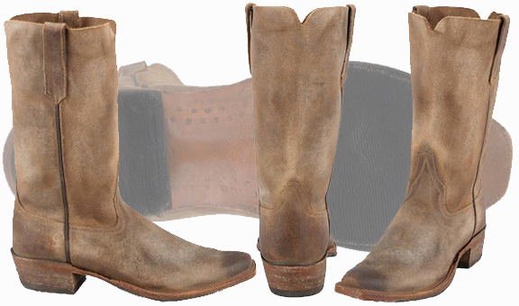 Distressed Cowboy Boots - Rios Of Mercedes Boot Company