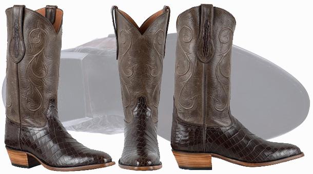 Tony Lama Crocodile Cowboy Boots - Beautiful pair of Nile Crocodile boots