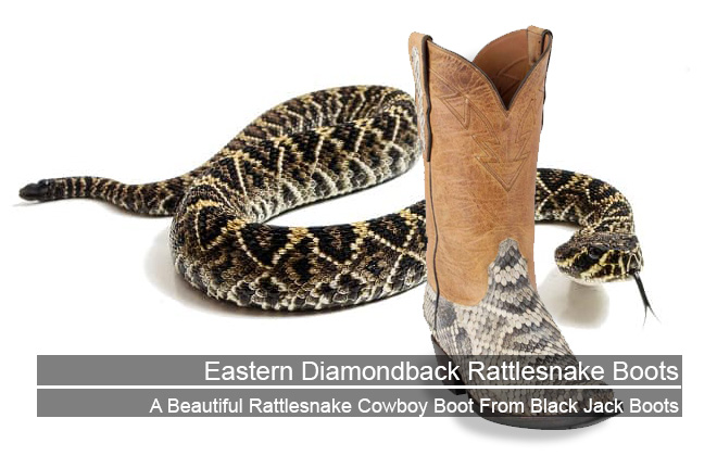 Eastern Diamondback Rattlesnake Boots - Featured Image