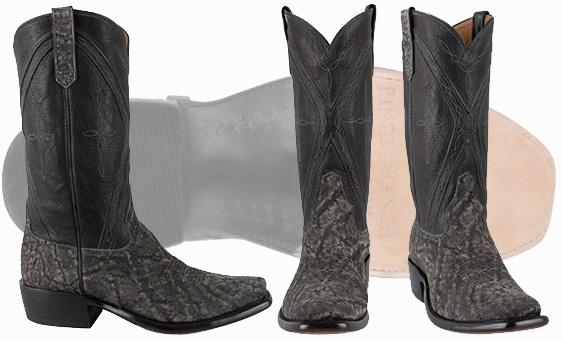Exotic Cowboy Boots - Elephant Skin Boots Granite Safari