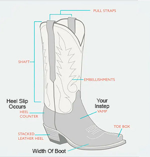 How Should Cowboy Boots Fit - Boot Anatomy