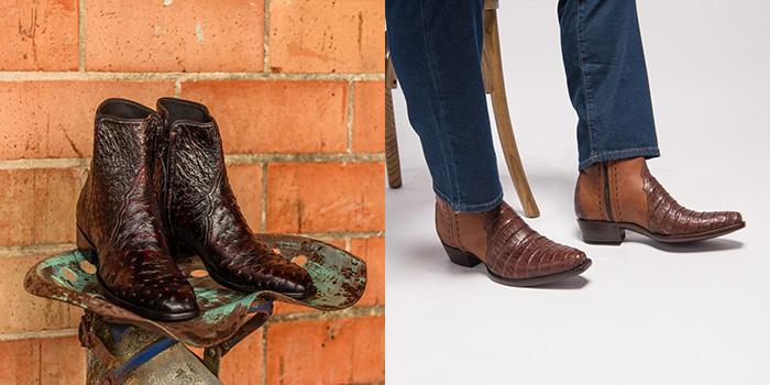 Men's Short Cowboy Boots - A Pleasant