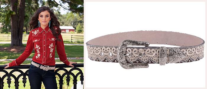 Very Sexy Lace and Rhinestone Womens Belt