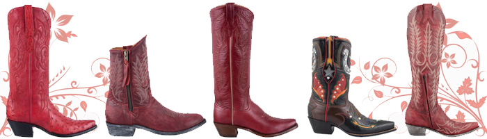 Women's Red Cowboy Boots Gallery