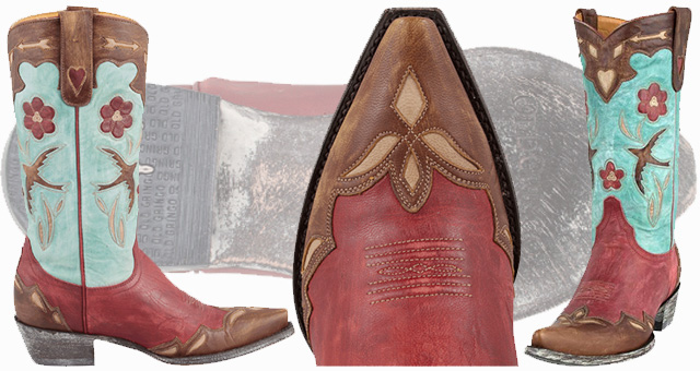 Women's Red Cowboy Boots - Old Gringo Golondrina
