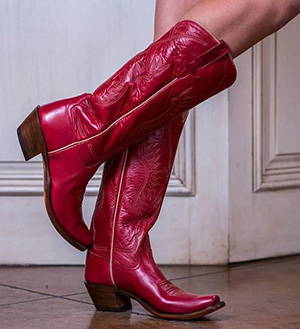 Womens Red Cowboy Boots - Rios Of Mercedes Milan Worn