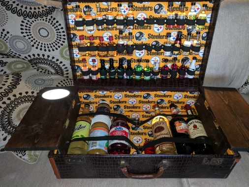 Pittsburgh Steelers Bar Suitcase