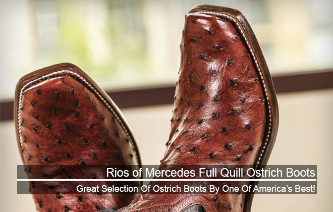 Rios of Mercedes full quill ostrich boots